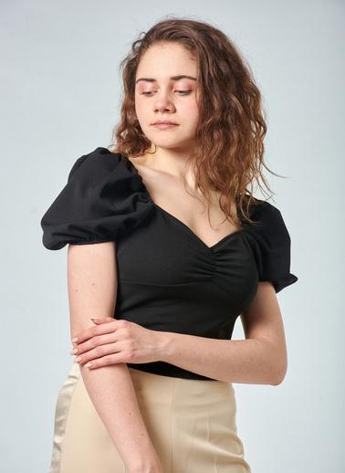Coral  Balon Kol Bluz Siyah